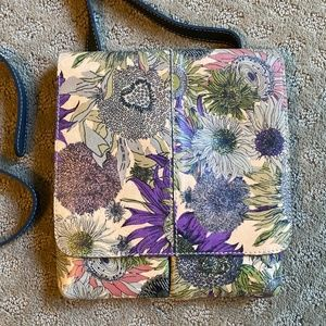 Patricia Nash Leather Floral Crossbody